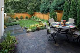 View in gallery Small yard with a patio