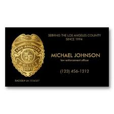 Design Your Own Office Fascinating Faux LAPD Police Officer Fake Police Officer Business Cards Add