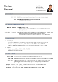 Resume In French Example Cv French Teacher How To Make A Good Resume Letter Francais 11