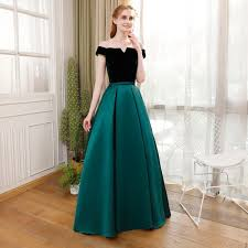 Simple Elegant Fashion Banquet Simple Elegant Evening Dress Bride Boat Neck Velvet