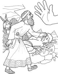 Abraham Offers Isaac Abraham Isaac Bible Coloring Pages