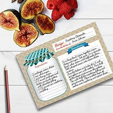 Where To Buy Recipe Cards In Stores Home Kitchen Recipe Cards Double Sided Cards 4x6 Inches