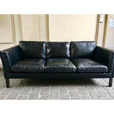 vintage black leather sofa. Delighful Black Intended Vintage Black Leather Sofa A