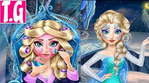 ice queen real makeover frozen princess elsa makeup and dress up game