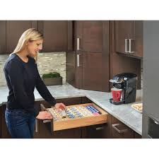 See more ideas about k cups, k cup storage, k cup holders. Rev A Shelf 2 31 In H X 16 In W X 19 75 In D K Cup Custom Drawer Insert 4cdi 18 Kcup 1 The Home Depot