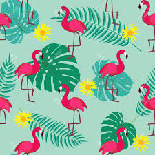 Flamingo Pattern Mesmerizing Cute Retro Seamless Flamingo Pattern Background Vector Illustration