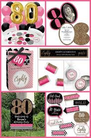 80th birthday party ideas for women how fun is this pink black and gold