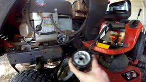 Oil Change How To Ariens Lawn Tractor Briggs And Stratton 656