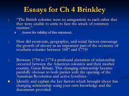 brinkley chapter society and culture in provincial america ppt  essays for ch 4 brinkley