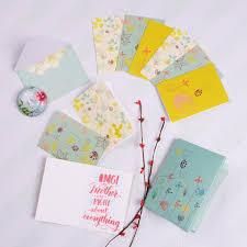 Doodle Gift Of Glee Set Of 12 Floral Printed Notecards