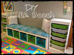 DIY Storage Bench with IKEA Shelf | Storage room, Concrete floor ...