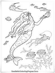 Mermaid Tale Printable Girl Coloring Pages 2273 Realistic Mermaid