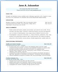 Nurse Resume Template Free Adorable Resume Templates For Nursing Jobs Resume Format For Nursing Job Free