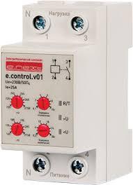 Реле контроля напряжения однофазное e control v А Реле  Реле контроля напряжения однофазное e control v01 25А