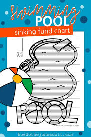 Swimming Progress Chart Swimming Pool Sinking Fund Chart Sinking Funds Swimming