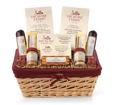 hickory farms holiday market hearty holiday gift basket