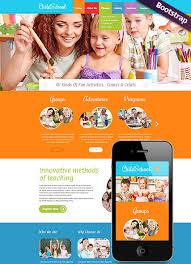 Kids School Website Template Children School