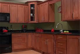 in style kitchen cabinets:  kitchen dark brown unfinished shaker style kitchen cabinets with black kitchen countertops decor and single