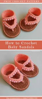 Free Crochet Patterns For Baby Sandals Custom Decorating Design