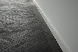 Black Herringbone Timber Floor from The Good House