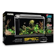 Fluval Spec V Black Slip On Led Light Fluval Spec Aquarium Kit Black 19 L 5 Us Gal