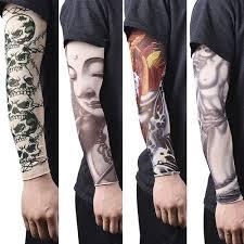 12 Pcs Nylon Fake Dočasné Tetování Rukávy Tatoo Punčochové Punčochy Pro Muže ženy At Vova