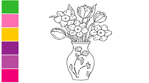 How To Draw A Vase With Designs How To Draw Flowers In A Vase How To Draw Flower Vase Step By Step Draw Vase Easy