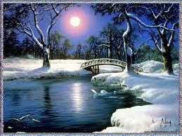 winter moon desktop wallpaper