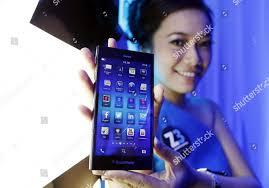 Indonesian Model Holds Blackberry Z3 ...
