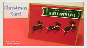 Diy Christmas Cards Christmas Crafts Diy Christmas Card Reindeer Paper Crafts