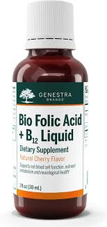 Super Liquid Folate Designs Health Genestra Brands Bio Folic Acid B12 Liquid Vegan B Vitamin Liquid Natural Cherry Flavor 1 Fl Oz