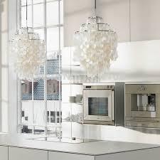 stunning shell pendant light aliexpress verner panton shell lamps fun 2 and 3 circle