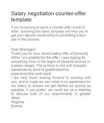 Example Of Counter Offer Salary Counter Offer Example Garygrasso Com