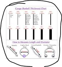 Barbell Piercing Size Chart Efficient Barbell Piercing Size Chart 2019
