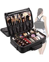 vasker 3 layers waterproof makeup bag travel cosmetic case professional portable makeup train cases organizer brush
