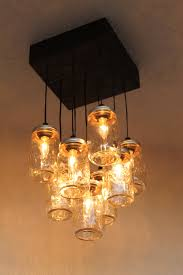 jar lighting. Mason Jar Chandelier - The Antuanette Ball Lighting 9 Canning Lamp Rustic By PartyandHomeDesign On Etsy R