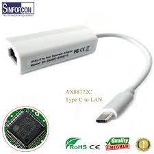 AX88772 tipi C USB RJ45 cep telefonu Ethernet LAN kablosu 100M mobil  ethernet adaptörü beyaz renk ücretsiz sürücü|Computer Cables & Connectors