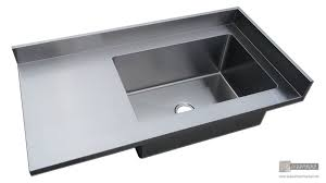 stainless steel countertop with integrated sink. Stainless Steel Number Finish Counter Top With Integrated Sink And Backsplash Countertop