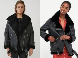 acne s shearling jacket left retails for 2 700 while zara s copy right costs 149 acne zara