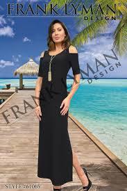 Frank Lyman Design 2016 Frank Lyman Design Chic Cold Shoulder Maxi Dress With Side