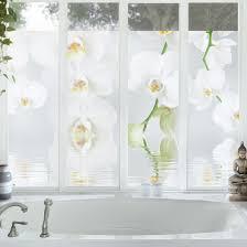 Orchideenbild Fensterfolie Sichtschutz Fenster Wellness Orchidee