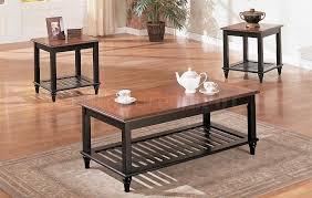 black wood living room tables