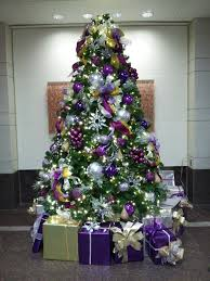 Pink And Purple Christmas Tree Decorations