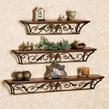 pleasurable ideas wrought iron wall shelves marvelous decoration decorative touch of class