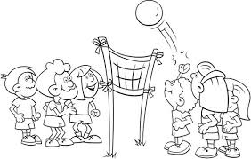 Small Picture kids playing volleyball coloring page Download Print Online