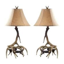 deer antler lamps faux table lamp for the taxidermy and piece set with deer lamp shade nz antler