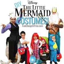 cutest diy little mermaid costumes ever great family costume idea