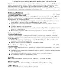 Pharmaceutical Sales Resume Example Free Resumes Tips