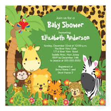 3 Photos of the The classic jungle theme baby shower invitations