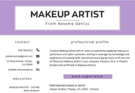makeup artist cover letter sle